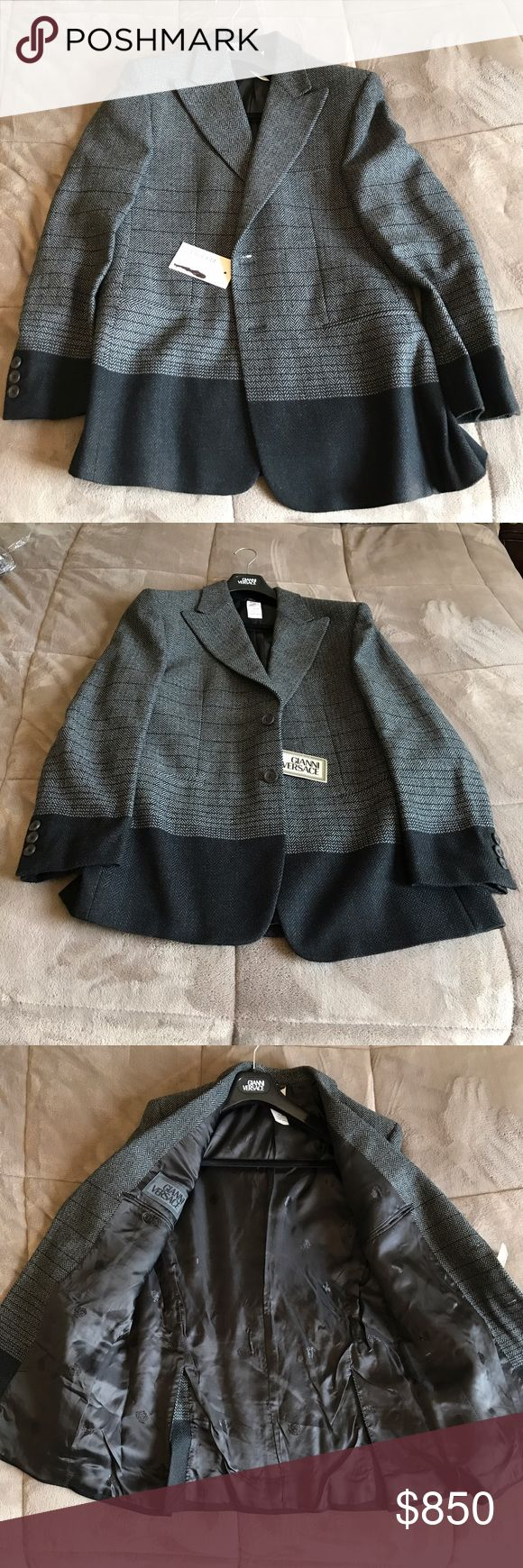 Gianni Versace Men's Wool Blazer NWT Brand new never worn. Can be worn with dress slacks or jeans perfect business or on the go. Versace Size 48 Versace Suits & Blazers Sport Coats & Blazers