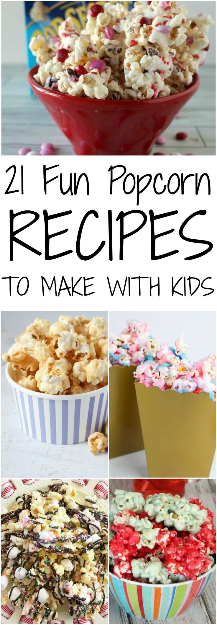 21 Fun Popcorn Recipes to make with kids via @hutt…