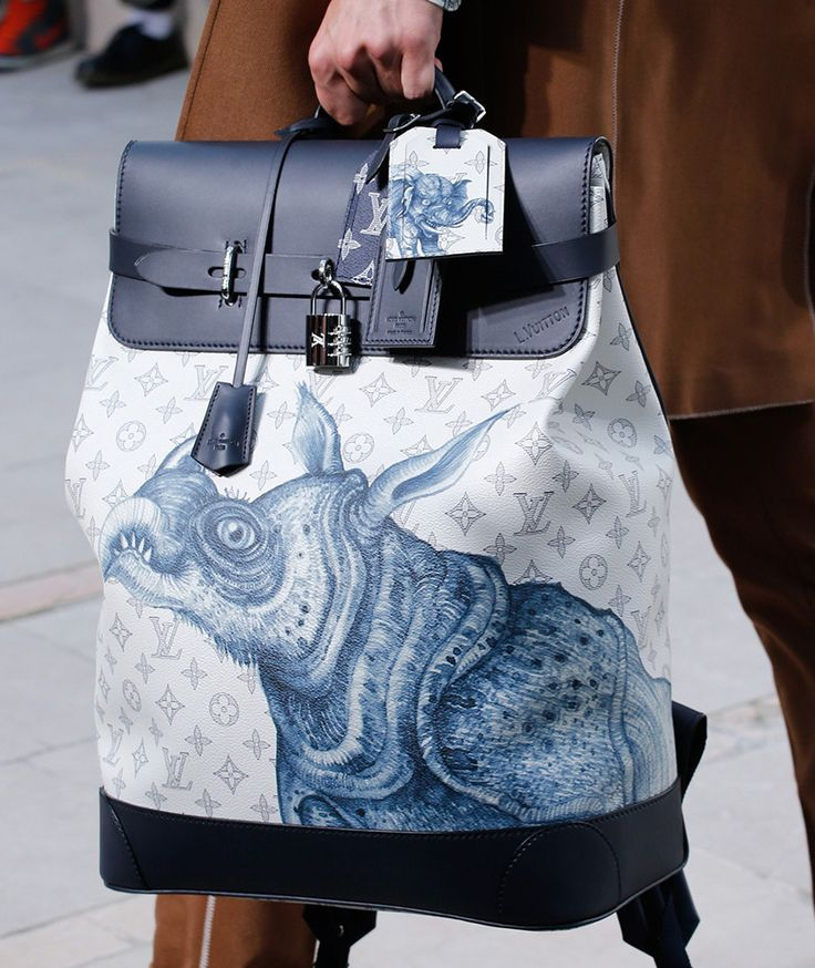 For Spring 2017, Louis Vuitton Took Its Men��s Bags on a Fantastical Storybook Safari