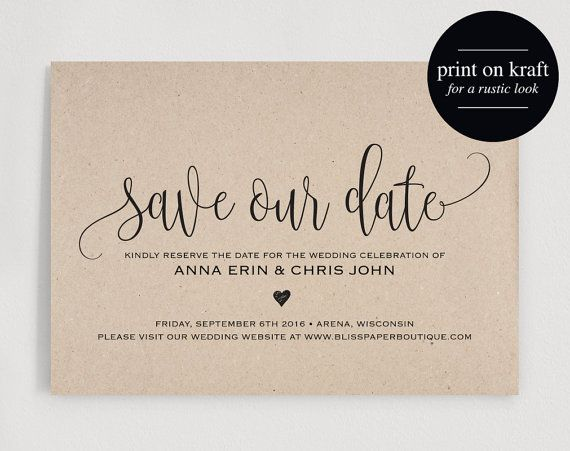 The 25 best ideas about Save The Date Templates – Save the Date Template