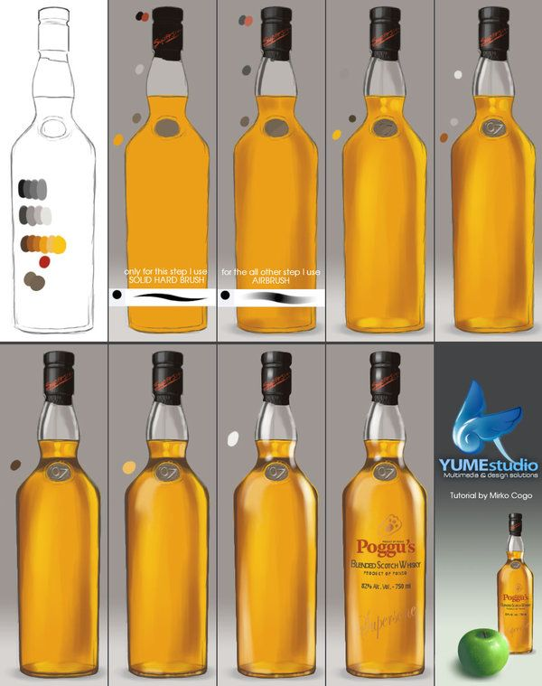 Tutorial - Bottle beer by michan.deviantart.com on @deviantART ★ Find more at http://www.pinterest.com/competing/