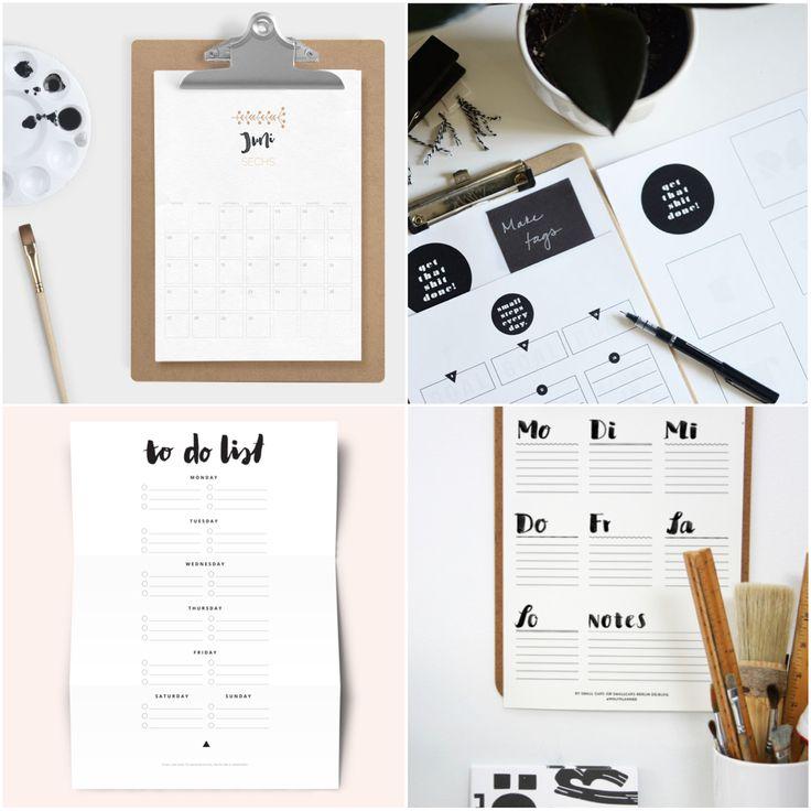 Great Free Printable Kostenlose Druckvorlagen zum Organisieren und Planen