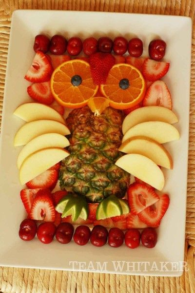 Owl fruit tray and tons of other owl party ideas