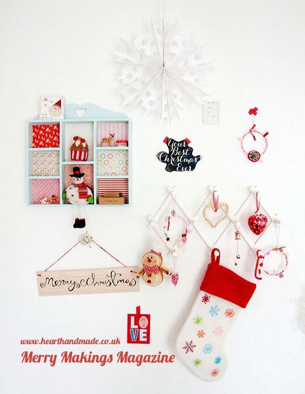 Free Christmas Ideas Crafts Part - 23: Totally Free Christmas U0027Merry Makingsu0027 Magazine - Www.