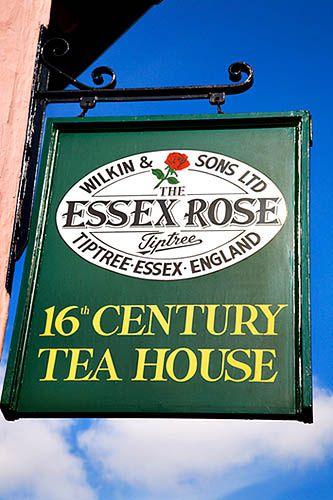 Tea:  The Essex Rose 16th Century Tea House, Tiptree, Essex, England.