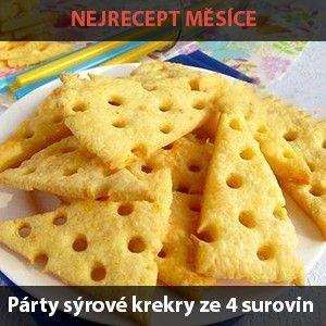 Párty sýrové krekry ze 4 surovin | NejRecept.cz
