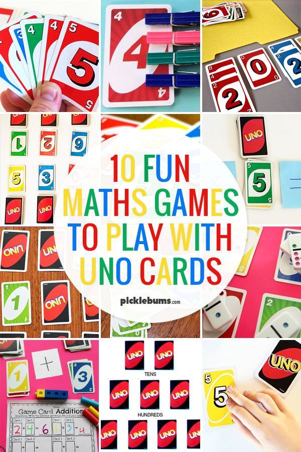 10 Fun Maths Games You Can Play With Uno Cards Fun Math Games