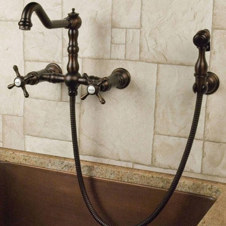 Wall Mount Kitchen Faucet With Hand Spray