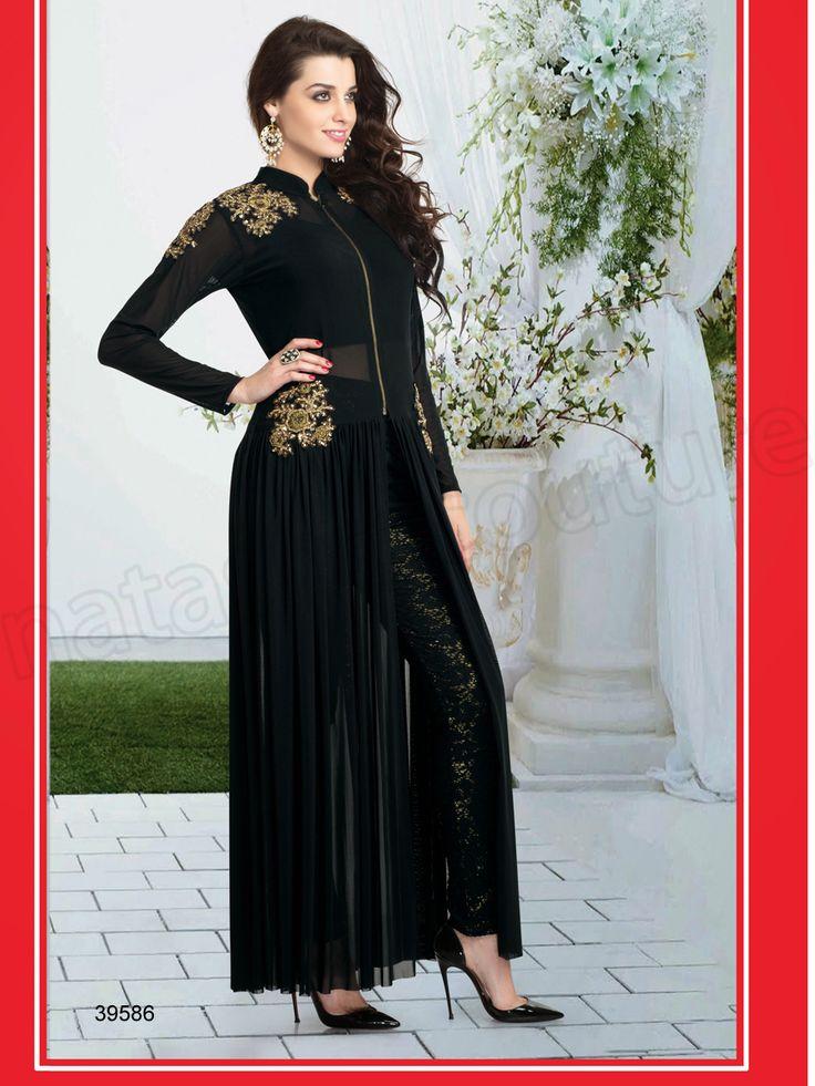 #Designer Suit # Black #Indian Wear#Desi Fashion #Natasha Couture#Indian Ethnic Wear#Indian Suit # Readymade