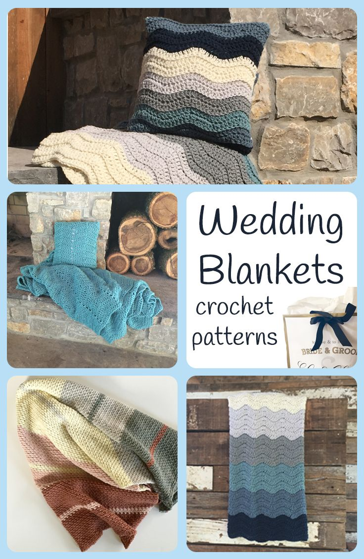 Handmade gifts make wonder wedding presents. A crochet blanket or afghan in the couples wedding colors will be a priceless gift for years to come. Choose your favorite blanket crochet pattern, their wedding colors, and start crocheting. Wedding blankets, anniversary blankets, gifts for any occasion.