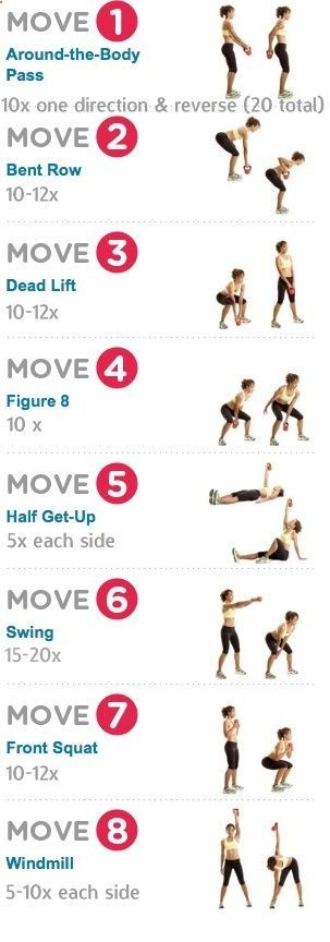 Love kettlebells - Kettle bell workouts, you can substitute it with dumbbells