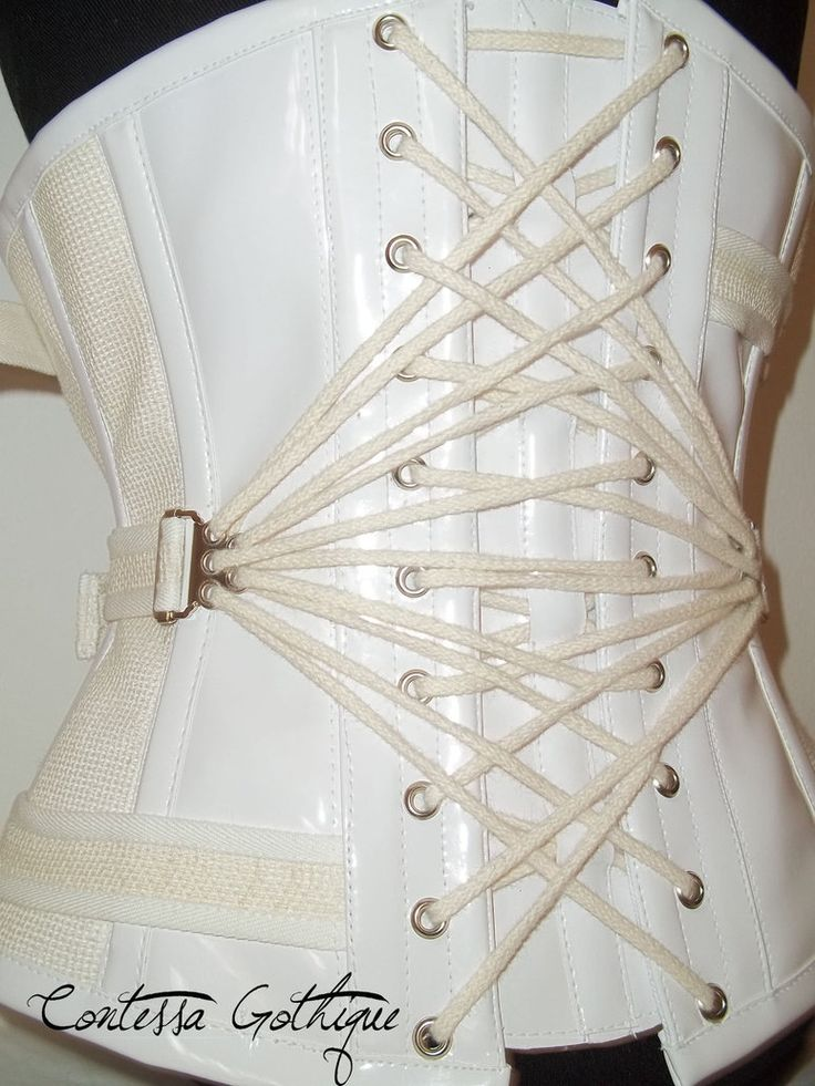 Fan-laced medical-inspired corset by Contessa Gothique Design in Croatia | Fan-Laced Corsets