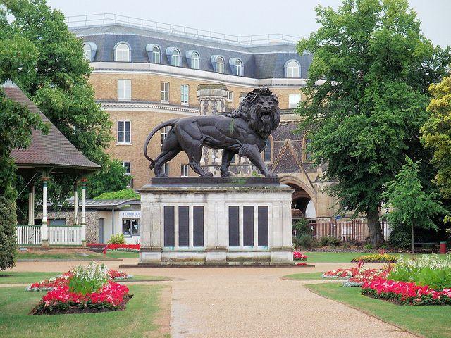The Maiwand Lion, Forbury Gardens, Reading, Berkshire.