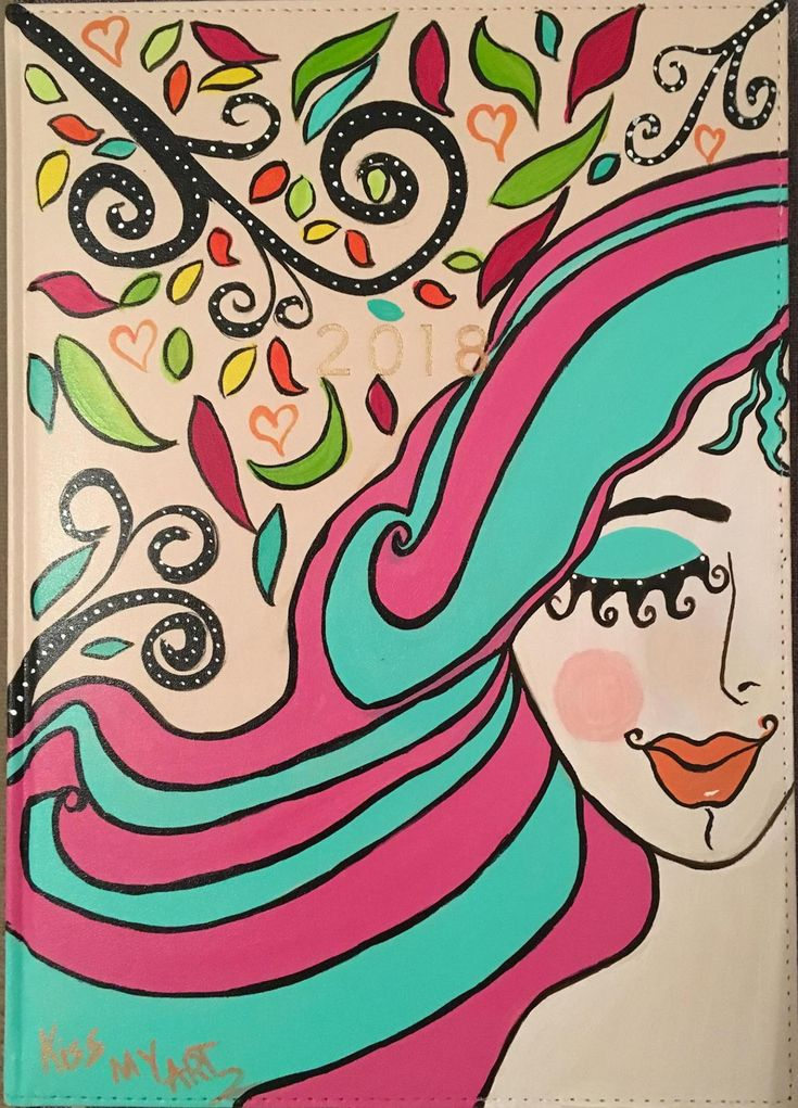 Hand Painted Diary
