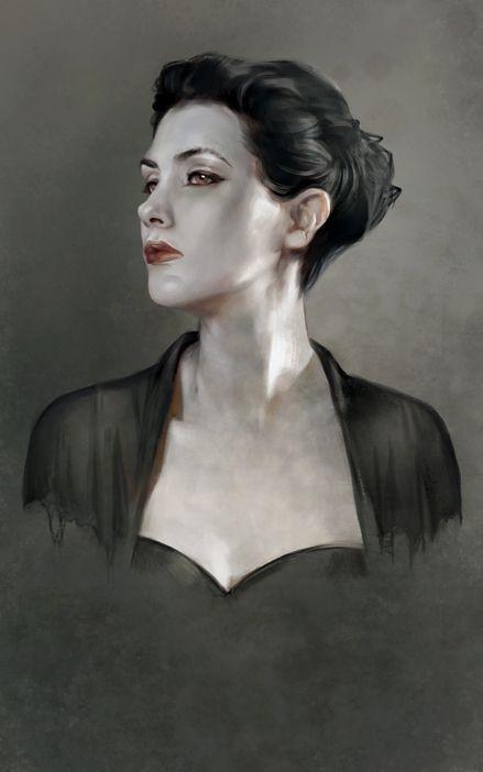 "Fantasy Illustration Blog by Cynthia Sheppard: Two New Portraits, ""Cassandra"" and ""Vasara"""