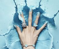 Light Blue Nail Art & Jewelry