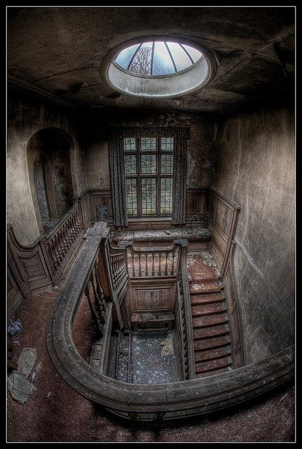 ".Fascinating picture. If those old walls could talk, what stories would they tell? Wander the corridors of a vintage theater and a Victorian mansion in my inspirational thriller, ""The Face Behind the Veil."" http://florasbook.com"