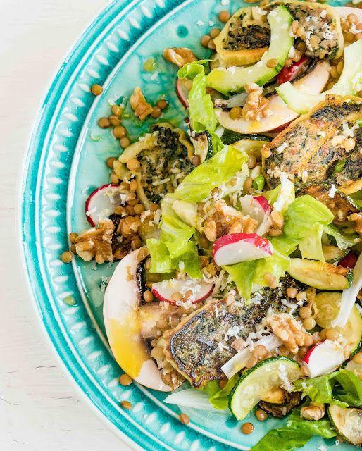 Maultaschen Linsen Salat Von Johannes Guggenberger Moderne Schwäbische Küche    Ideal Zur Resteverwertung Von übrig Gebliebenen Maultaschen.