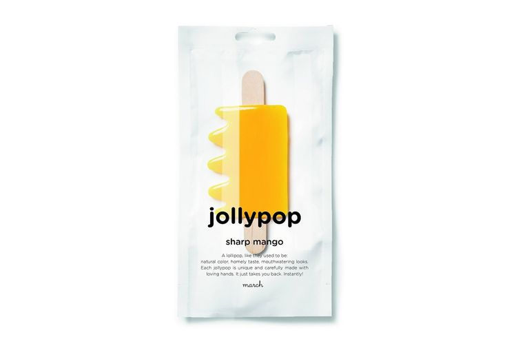 Jollypops by March.  Fun to look at and eat, Jollypops are sweet lollipops which come in a range of fruity flavours and playful shapes. Using natural colour and fruit extracts, these handmade lollipops capture the homemade taste of lollies.  Jollypops are free from gluten, allergens and GMO ingredients.  Available in the following flavours: Happy Apple, Sharp Mango and Very Berry.  Each Jollypop comes individually packed.   Dimensions  12w x23cmh