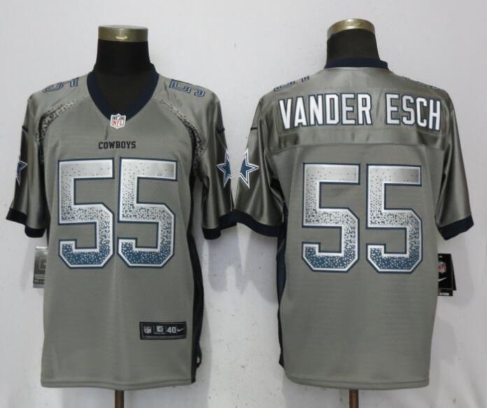 buy online 39694 f63f0 Nike Cowboys 55 Leighton Vander Esch Gray Drift Fashion ...