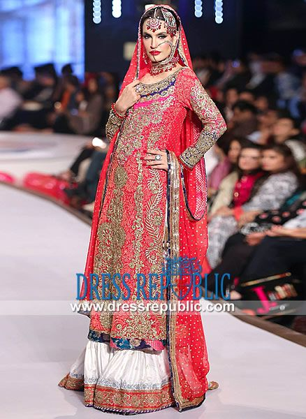 Nomi Ansari Bridal Collection 2014  Nomi Ansari Pink Bridal Dress at Pantene Bridal Couture Week 2014 Karachi. Shop Online in New York and New Jersey, USA. New York Phone  1 (347) 404-5789. by www.dressrepublic.com