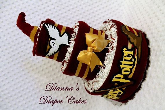 Harry Potter Baby Diaper Cake Choose Color by Diannasdiapercakes