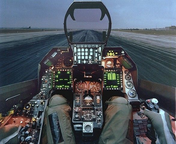 F 16 Fighter Jet Cockpit inside fighter jet coc...