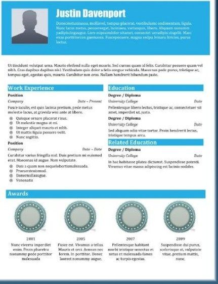 Award Winning Resume Templates Are Really Great Examples Of Resume For  Those Who Are Looking For Guidance To Fulfilling The Recruitment In  Applying Jobs.