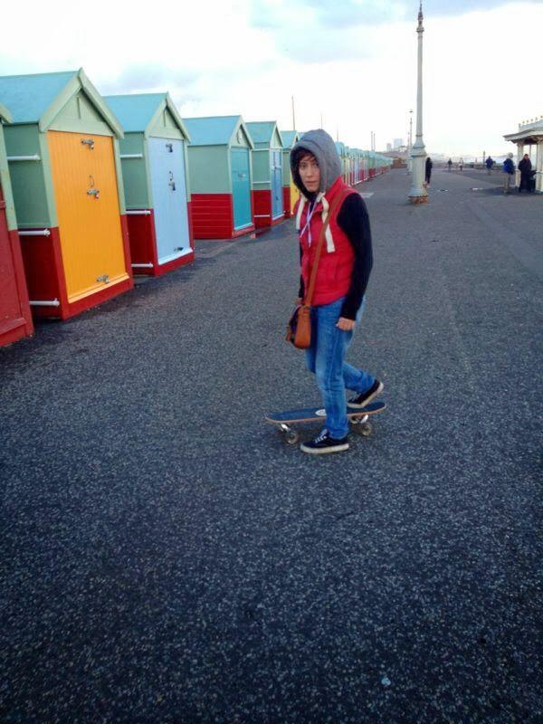 skating, brighon beach huts, gay,