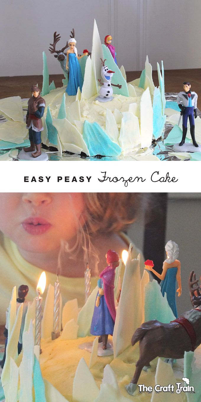 Easy Peasy Frozen themed birthday cake!