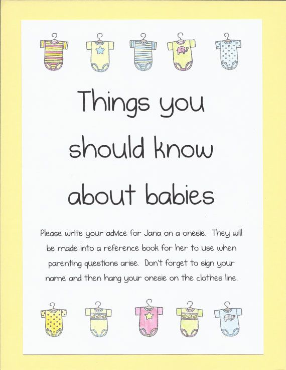 Baby Shower Game   I Want To Do This But Not Sure How I Want To