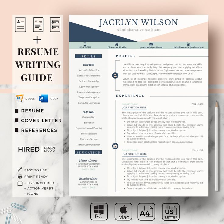 Professional Resume for Administrative. College Resume CV