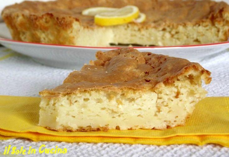 Torta limone e ricotta
