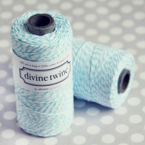 This twine comes in all colors and makes any package look so cute!