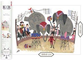 fotobehang Fiep Westendorp 'Circus olifanten'
