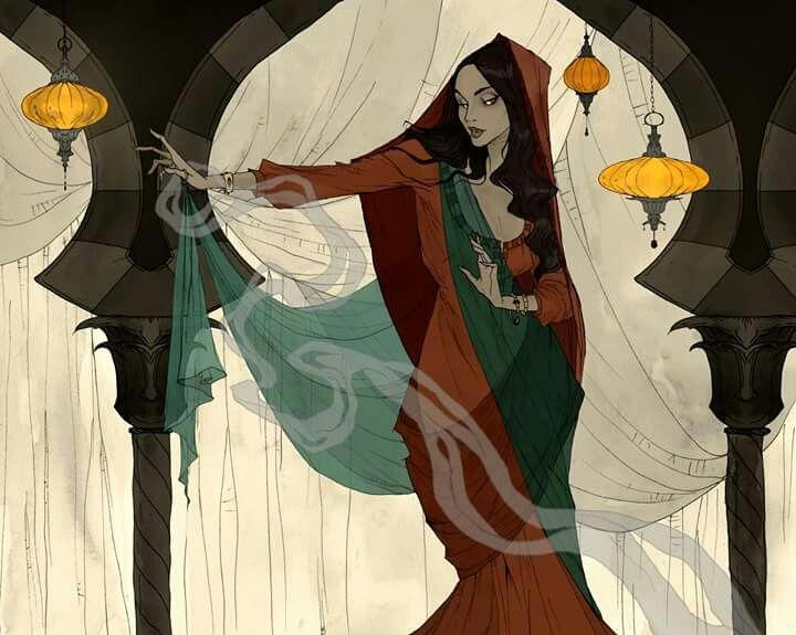 "Scheherazade, the vizier's daughter, and narrator of ""One Thousand and One Nights"" #scheherazade #art #illustration #abigaillarson"