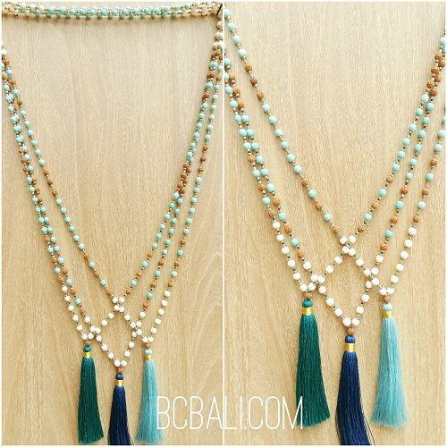 bali handmade necklaces tassels pendant design - bali handmade necklaces tassels pendant design