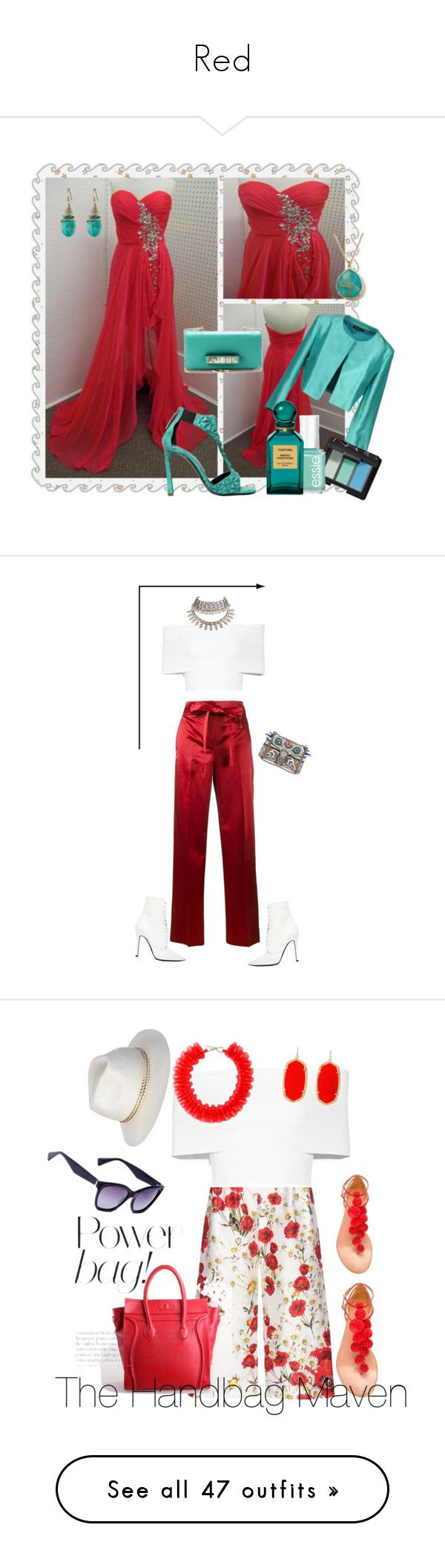 """""""Red"""" by yelena-yeong ❤ liked on Polyvore featuring Alexis Bittar, Ippolita, Valentino, Gianmarco Lorenzi, Antonelli, NARS Cosmetics, Essie, Tom Ford, Helmut Lang and Gucci"""