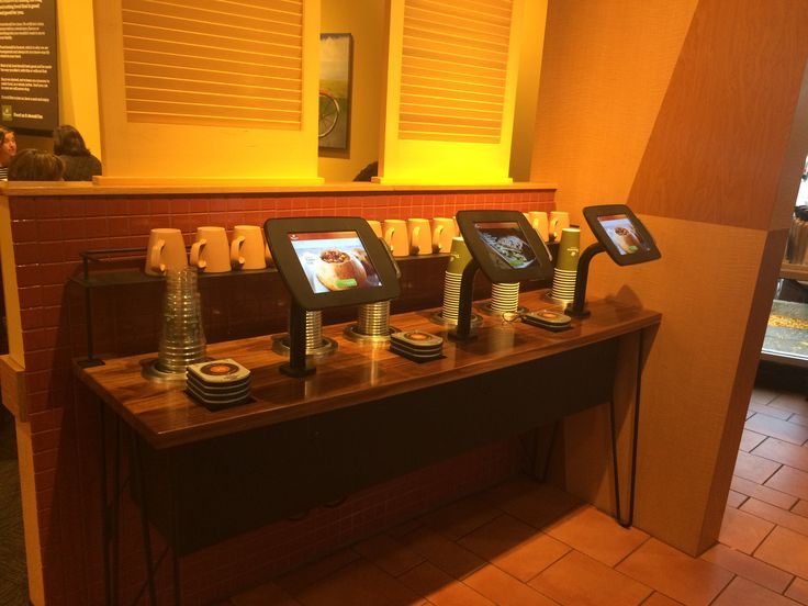 Fast Lane Kiosks (order and pay without speaking to a member of staff) - Panera Bread - Chicago Suburbs October 2016