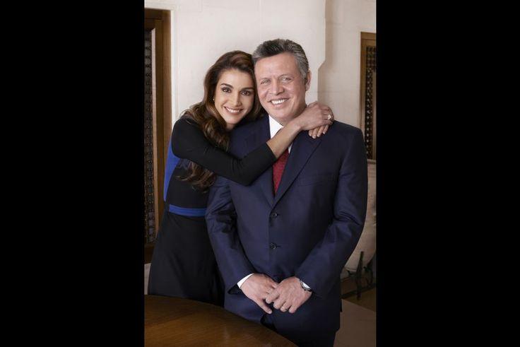 Rania avec le roi Abdallah en 2012