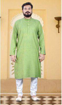 Men Readymade Cotton Green Color Casual Wear Kurta Pajama | FH575585181 Follow us @heenastyle  #men #mens #menfashion #mensfashion #menfashionpost #menslook #mensgrooming #grooming #kurta #groomingformen #menskurta #menswear #meninstyle #mensstyle #heenastyle #summersale #kurtapajamaonline #kurta