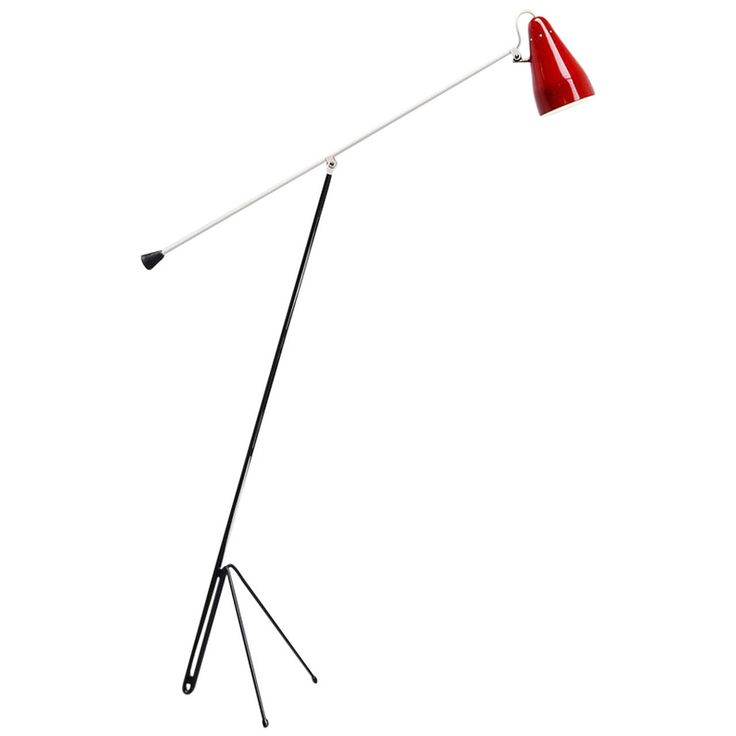 Wim Rietveld 6320 Floor Lamp, Gispen Culemborg, 1953   From a unique collection of antique and modern floor lamps at https://www.1stdibs.com/furniture/lighting/floor-lamps/
