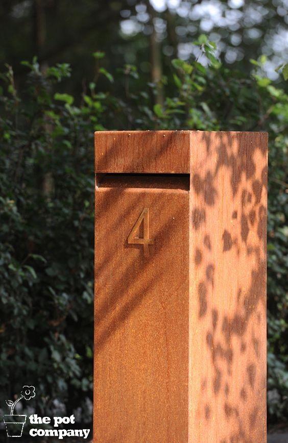 Letterbox Corten Steel