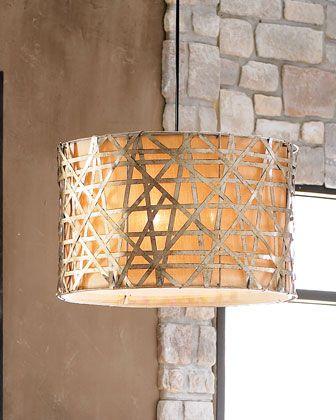 Sennett Basketweave Pendant Lights at Horchow.