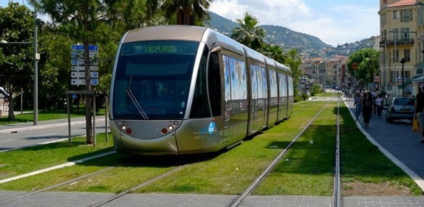 Green Tramway. Nice,  France