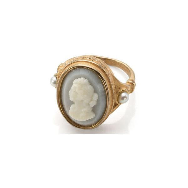Rose Gold-Plated Cameo Ring ($115) ❤ liked on Polyvore featuring jewelry, rings, accessories, cameo jewelry, rose gold plated jewelry, cameo jewellery, rose gold plated ring and cameo rings
