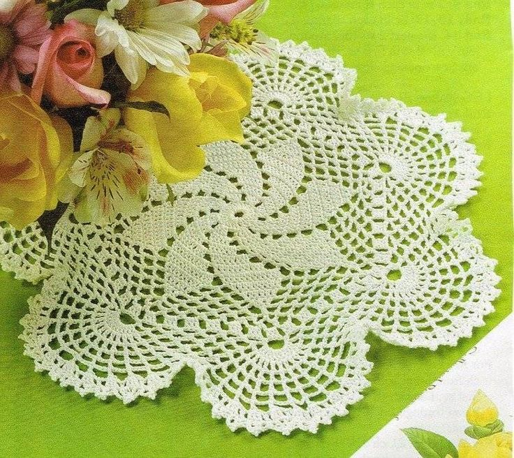 Mejores 252 imágenes de Doily Crochet Patterns en Pinterest ...