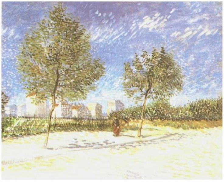 On the Outskirts of Paris Vincent van Gogh   Painting, Oil on Canvas  Paris: Spring, 1887 Private collection  F: ;351, ;JH: ;1255