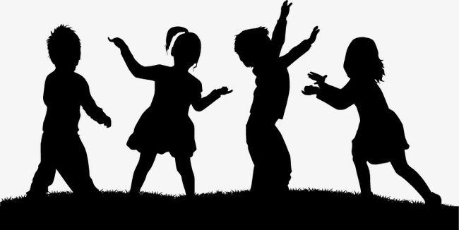 Childrens Cartoon Silhouettes Children, Cartoon, Child ...