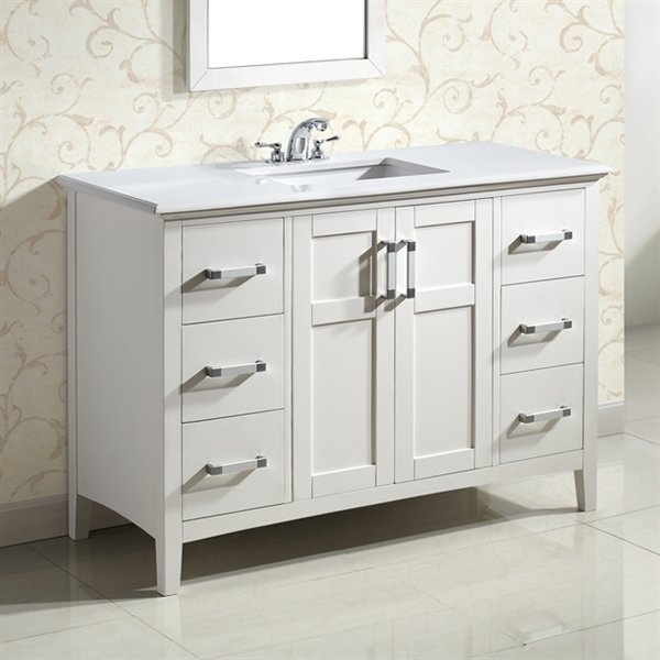"$1,199.99 Winston 48"" Bath Vanity with Two Drawer Columns"